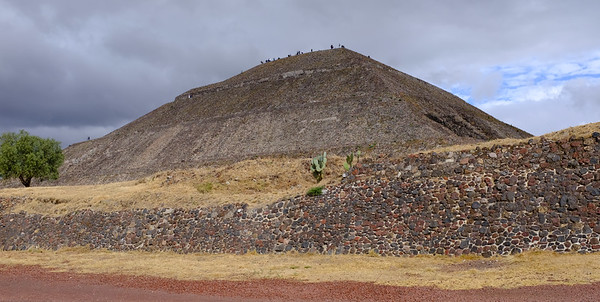 Pyramid of the Sun.  Some reconstruction made during restoration in early 1900's.