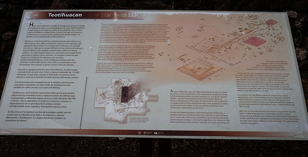 Teotihuacan intro:  from ~200 B.C. until 700-750 A.D., ~175,000 inhabitants.