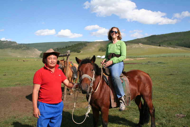 My guide, Bogie, and my horse (didn't catch his name).