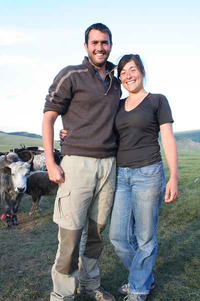 Mathieu and Anne-Laure--total naturals when it comes to farming!