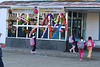 The school was decorated with balloons, and there was a ceremony before classes began.