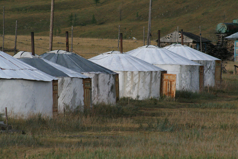 Our first ger (pronounced gare) camp.  Ger is Mongolian for yurt (a Russian word).