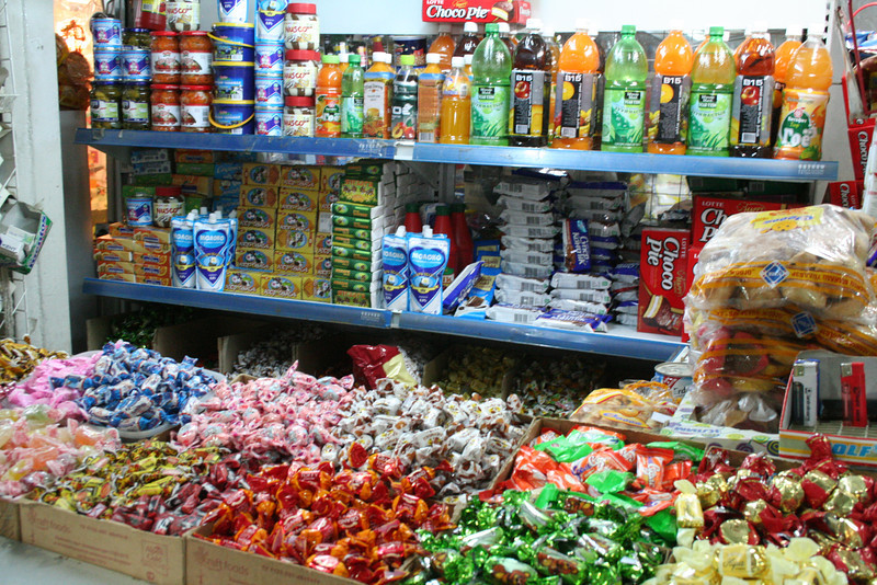 Lots of candy to choose from at the market.
