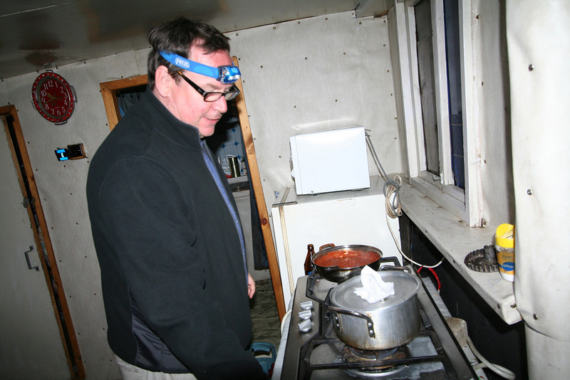 Max fires up his headlamp and cooks us up the best spaghetti we'd ever had!