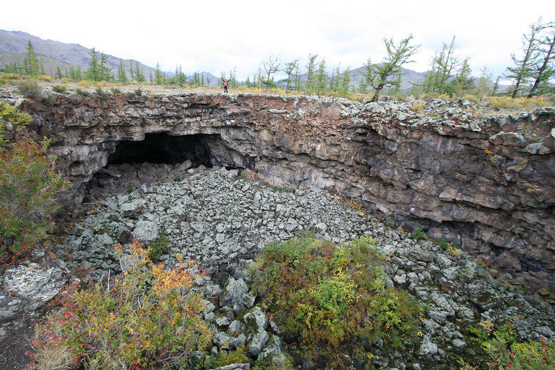 Near White Lake, there were intricate caves.