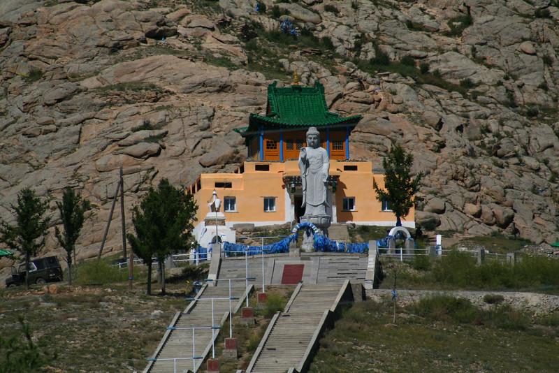 The new Buddhist temple, high atop Tsetserleg.