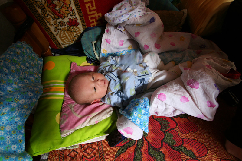 Just three weeks old...