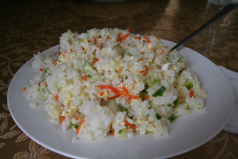 This rice with vegetables was delicious!  (re: mutton-free!)