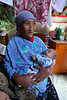 In the next ger we visited, there was a brand new baby (pictured here with Grandma).