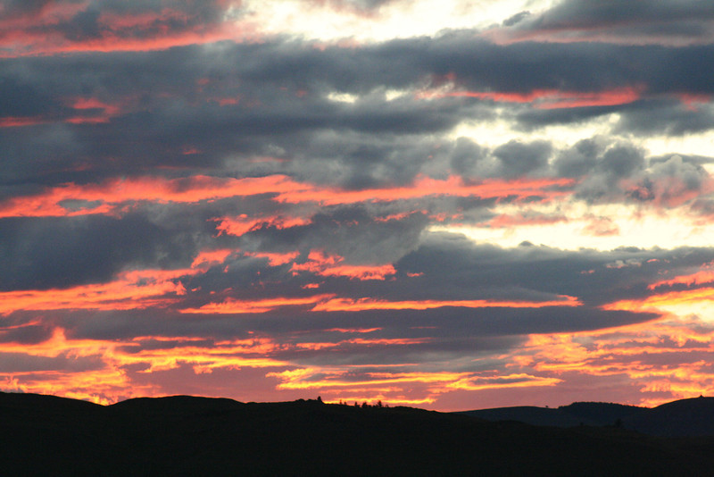 The sunsets in Mongolia were dramatic.