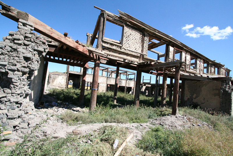 I never found out exactly what this old, burned out structure was.  It's right next to the monastery...