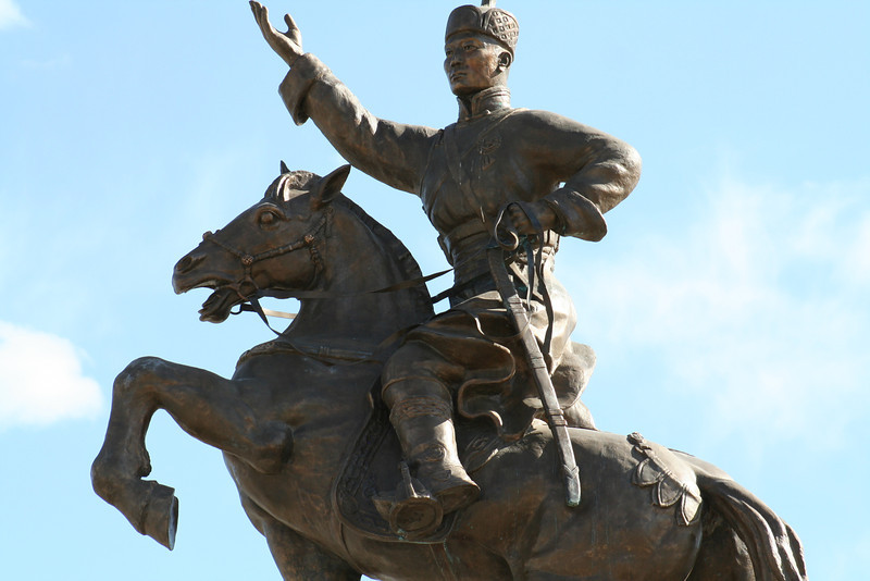 """Damdin Sukhbaatar, the """"hero of the revolution"""" winning independence from the Chinese."""