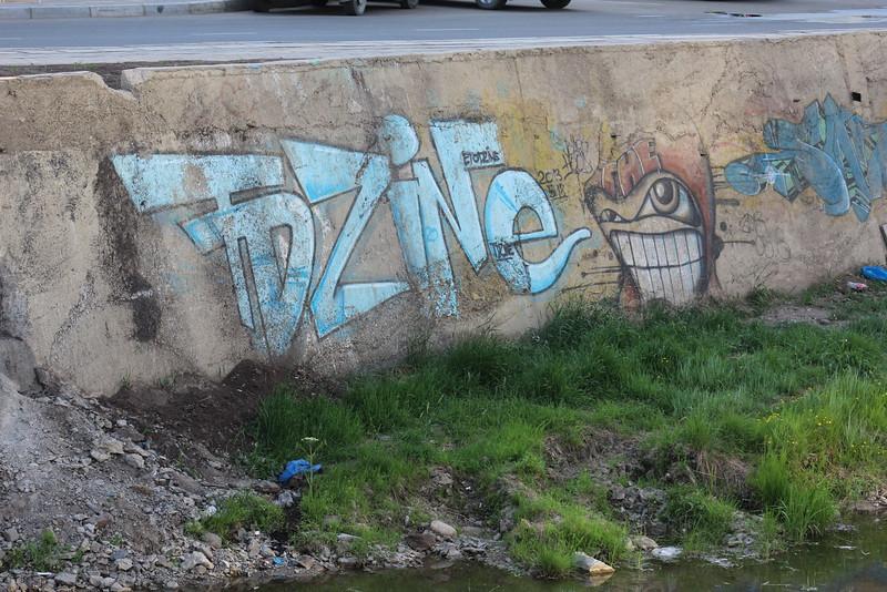 More graffiti.  Nice teeth.