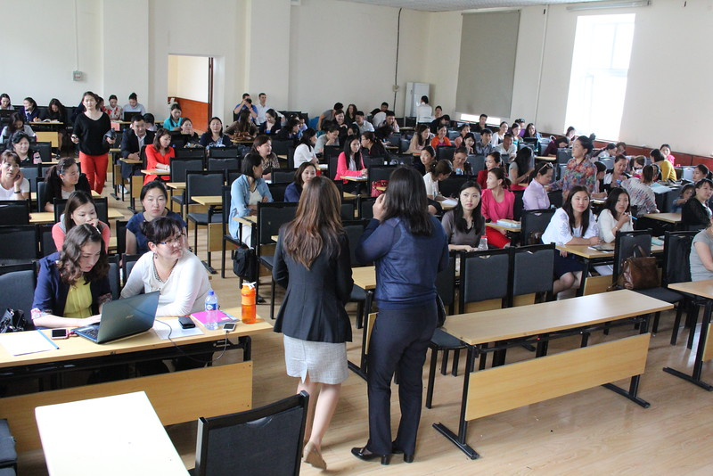 Surprise!  We were asked to deliver a two-hour lecture at MNUE!  We ended up sending around a questionnaire, asking students their opinion on the state of education in Mongolia.  Now, to get those translated into English...