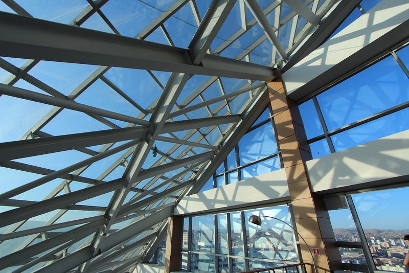 The solarium inside the Blue Sky building.