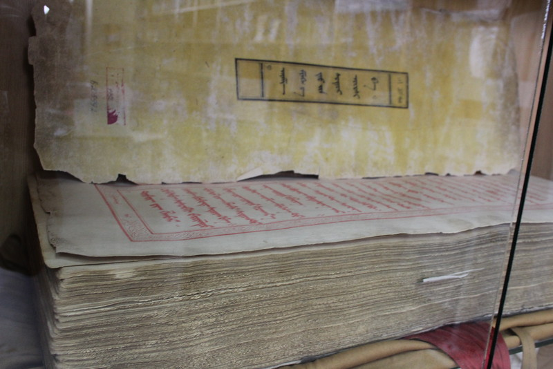These were the books that the monks were using during their chanting.  It was incredible to listen to.  I wish I knew how to attach audio to this caption...