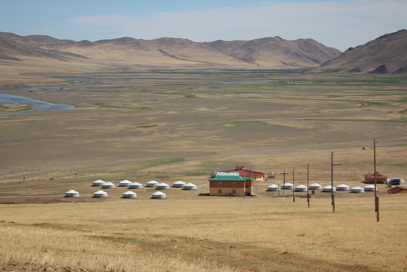 """Our ger camp from above.  <br /> <a href=""""http://www.mongoliagercamp.com/"""">http://www.mongoliagercamp.com/</a>"""