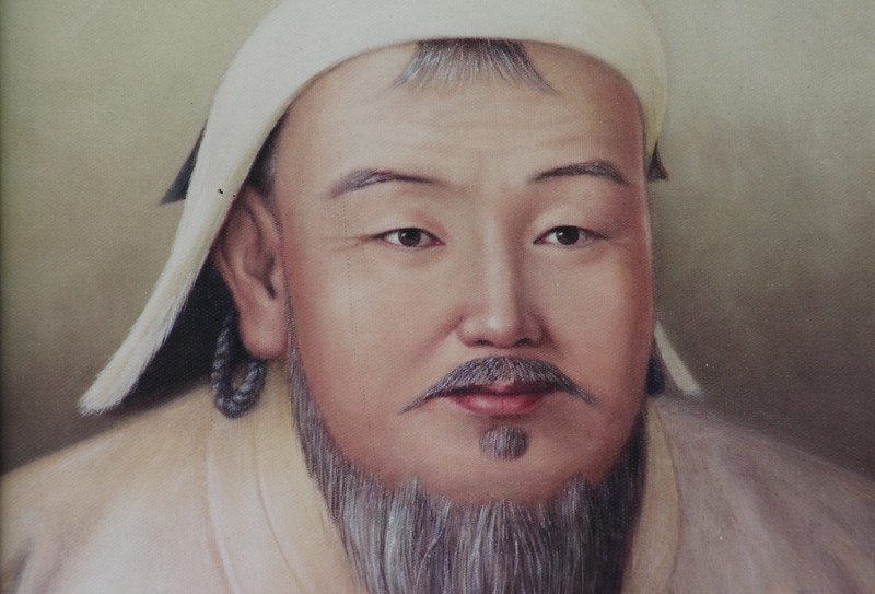 Painting of Chinggis at a little shop near the monastery.  The artist must have been quite prolific, because these paintings were everywhere...  ;)