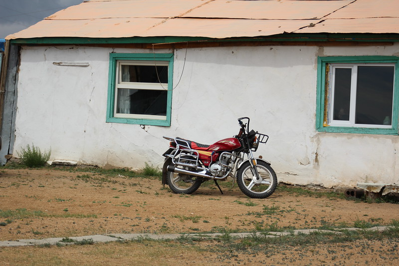 """My other horse is a motorcycle.  I think this what it means to truly be a """"Modern Mongol."""""""