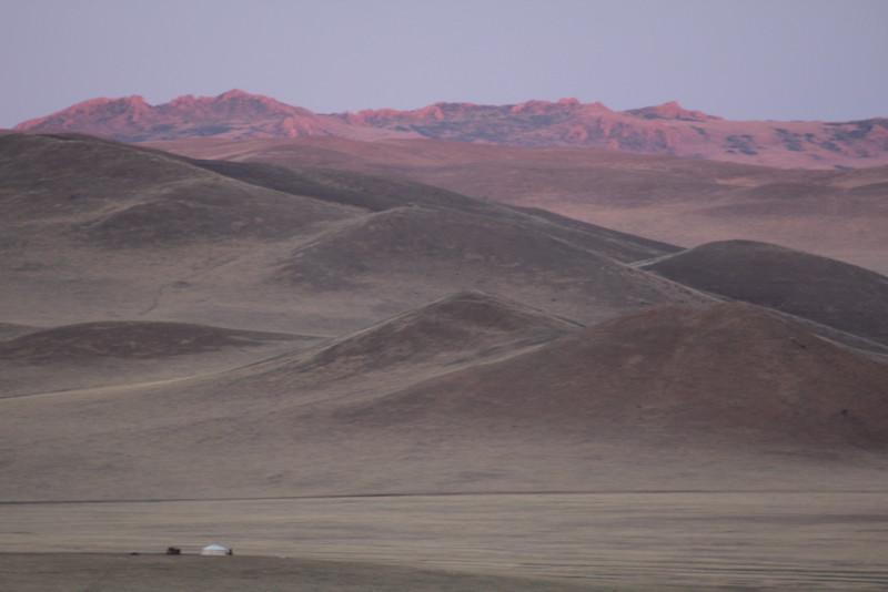 Purple mountain's majesty...