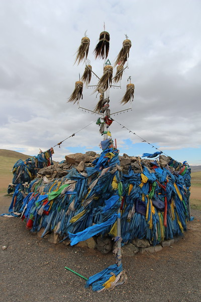 This was a shamanistic monument that we passed on the way out to the countryside.  I don't know much about it, other than that the colors of the hair are meaningful--white for peace, and dark for war.  From the looks of it, we're kind of in-between?