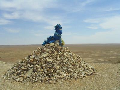 """Prayer rocks called an """"Ovoo"""""""