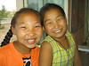 Two cute little girls at the telecom/internet place.  They loved having their pictures taken.