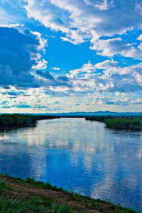 Early morning river on the steppes, NE of Ulaan Bataar