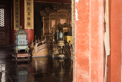 inside the Hall of Supreme Harmony where emperors received official visitors