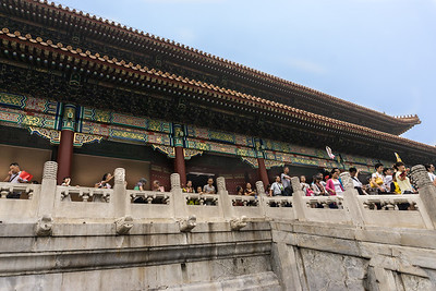 Many tourists at the Gate of Supreme Harmony