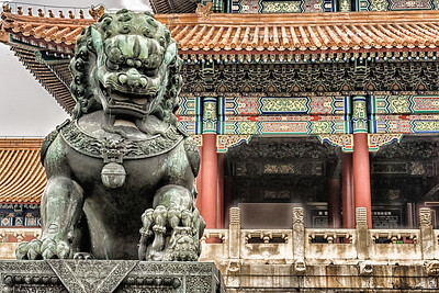 Bronze Lion guarding the Gate of Supreme Harmony