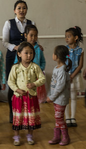 Some of the children getting to perform for their guests.