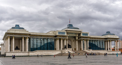 Government Palace on the north side of Chinggis Square