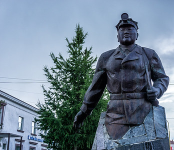 Statue of a miner in Nalaikh.
