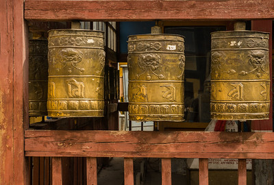 More prayer wheels at the Gandan Monastery