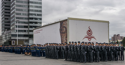Military ceremony in Chinggis Square