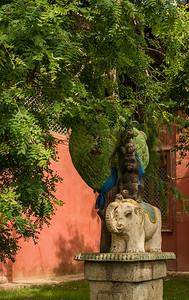 In the garden of the Gandan Monastery