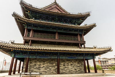 A watch tower on the Xi'an city wall