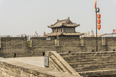 The Xi'an City Wall with one of the watch towers