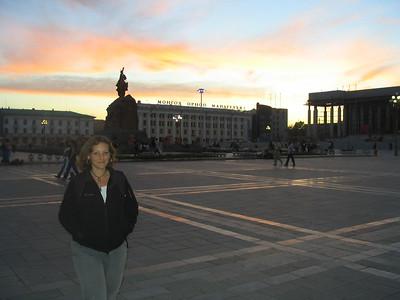 Sukhbaatar Square in Ulaanbaatar.