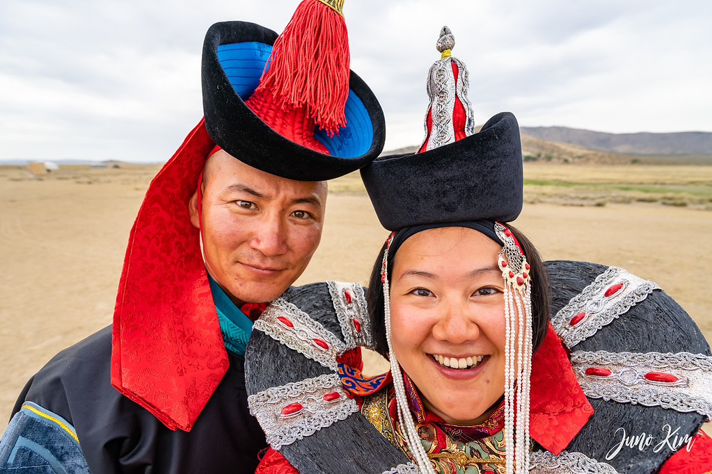 Dressing up like Mongolian royalty in rural Mongolia (I do look like I'm from Mongolia)