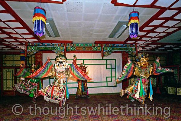 Mongolia 2008 traditional Mongolian dancers August 21