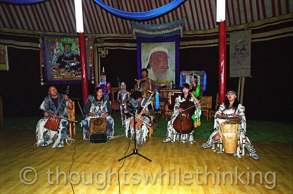 Mongolia 2008 Abtai-Sain Kham Palace Restaurant entertainment August 20