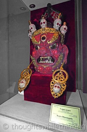 Mongolia 2008  Begtse Dharmapala Buddhist ceremonial mask in the Zanabazar Museum of Fine Arts August 21