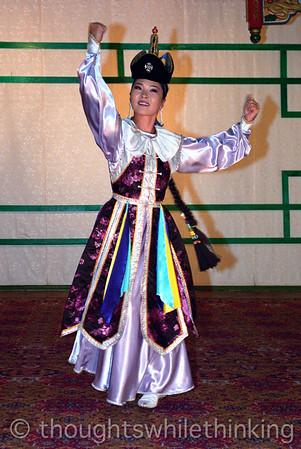 Mongolia 2008 traditional Mongolian dancer August 21