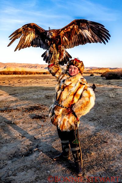 Guna, Mr. Sailou's son, with his eagle
