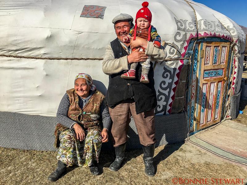 Mrs. Sailou, Mr. Sailou and their grandson