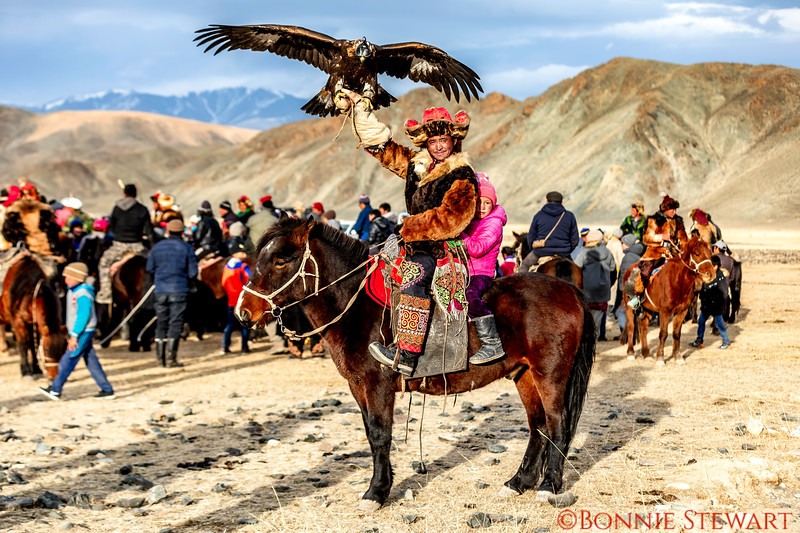 Winner of the Eagle Hunter competition in the  Altai Nomad Games 2018