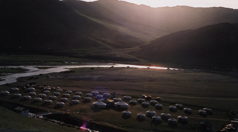 Our ger camp at what's left of Kharkorum, the capital of the Mongol empire in the 13th century.