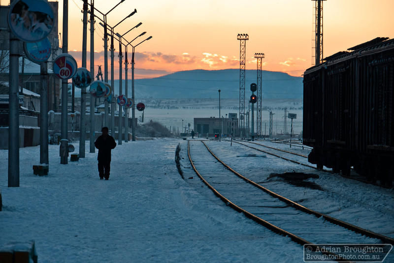 My final Mongolian sunrise while we waited to make the border crossing into Russia.